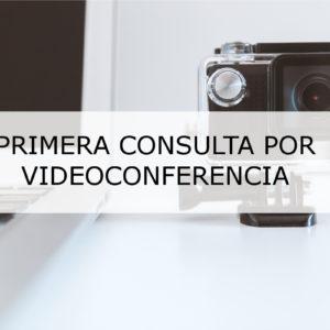 PRIMERA CONSULTA POR VIDEOCONFERENCIA